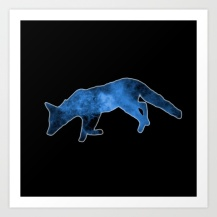 fox, cosmic, cosmos, blue, stars, astronomy, animal, astrological, stars,