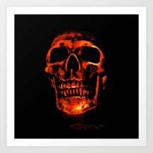 skull, photo manipulation, red,