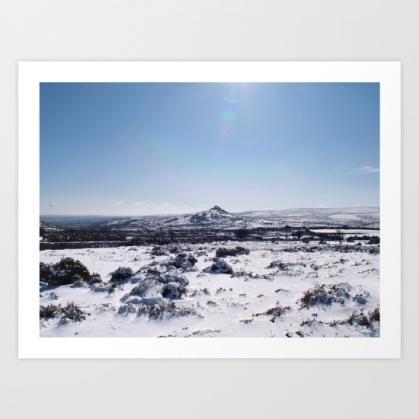 landscape, winter, moorland