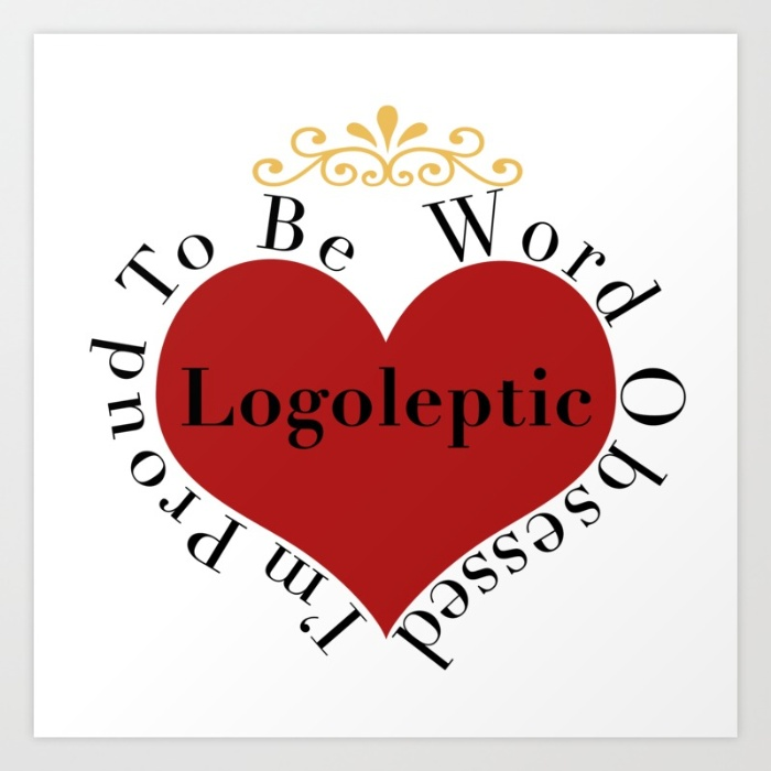 logoleptic, graphic design, heart, word obsession, writing obsession, reading obsession, love of words