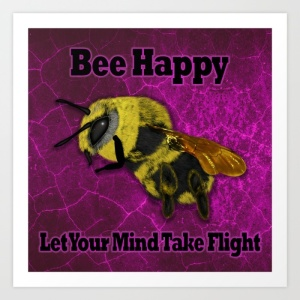 happy-bee-pink-3ks-prints