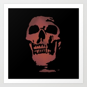red-optical-skull-prints